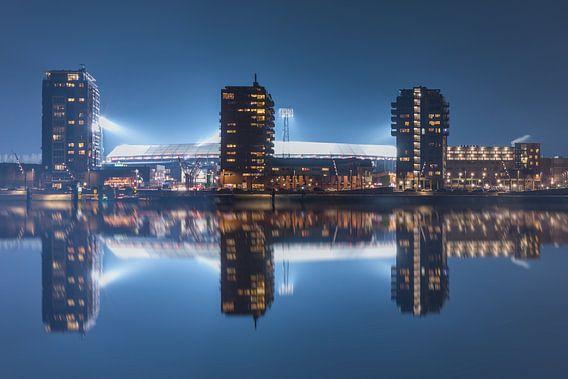 """Feyenoord Stadion """"De Kuip"""" Reflectie 2017 in Rotterdam van MS Fotografie"""