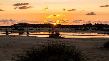 Dünen im Sonnenuntergang auf Amrum von Alexander Wolff