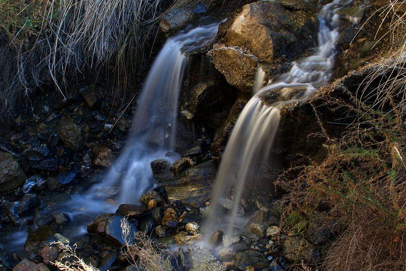 The Twin Waterfall van Cornelis (Cees) Cornelissen