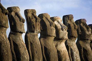 Mysterieuze beelden op paaseiland van Ivonne Wierink
