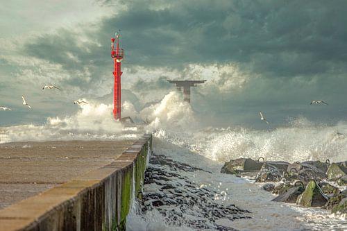 Storm op de pier