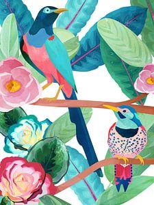 Birds in Spring von Goed Blauw
