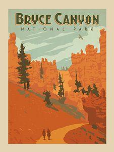 Oude poster van Bryce Canyon