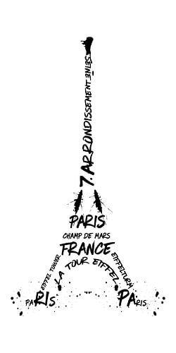 Digital-Art Eiffel Tower | panoramic