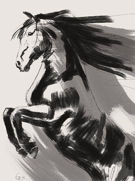 Fries Steigerend Paard van Go van Kampen
