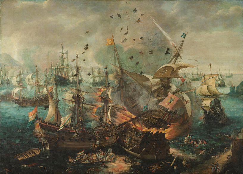 Slag bij Gibraltar in 1607, Cornelis Claesz. van Wieringen sur Marieke de Koning