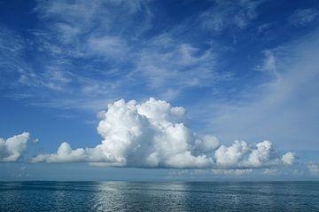 Wolk boven het IJsselmeer von Fonger de Vlas