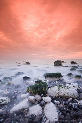 Zonsondergang Normandië