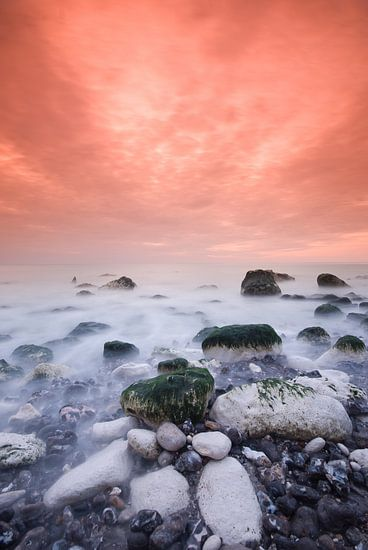 Zonsondergang Normandië van Bert Beckers