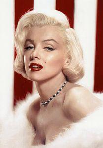 Marilyn Monroe schwül, mit roten Lippen