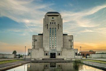 Radio Kootwijk bij zonsondergang sur Roy Debets