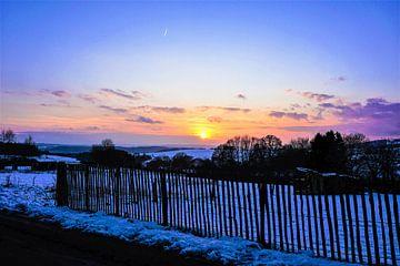 Winterse zonsondergang van Nynke Nicolai