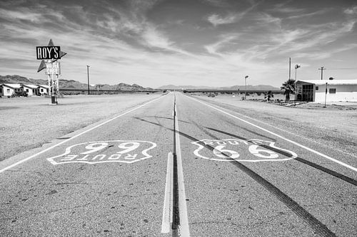 Route 66 bij Roy's Motel van