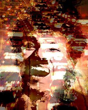 Chaplin Laugh Charlie Chaplin Pop Art van Leah Devora