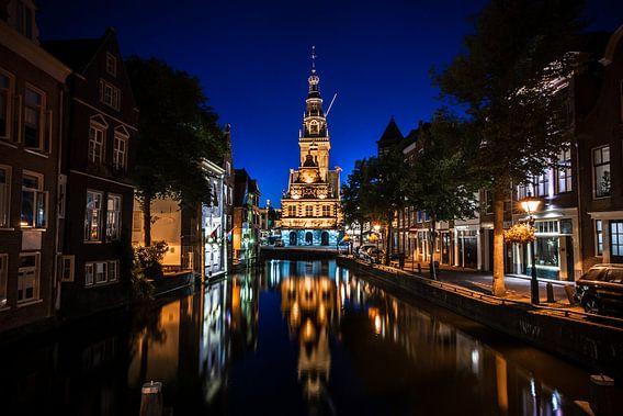 Uitzicht op de oude Waag en kaasmarkt in Alkmaar