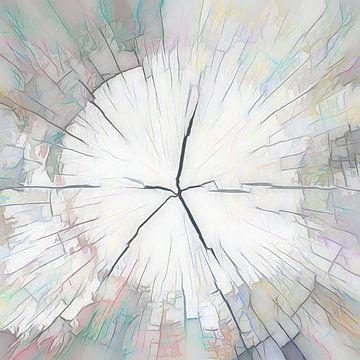 Houtstructuur, abstractie van Rietje Bulthuis