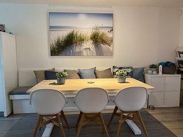 Klantfoto: Nordseedüne im Gegenlicht van Reiner Würz / RWFotoArt