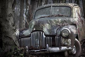 Verlassenes altes autowrack am urbex Lokation