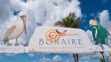 Bonaire welkomst bord van Ivana Luijten