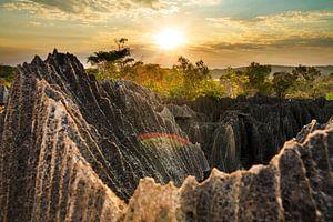 Tsingy rotsen zonsondergang