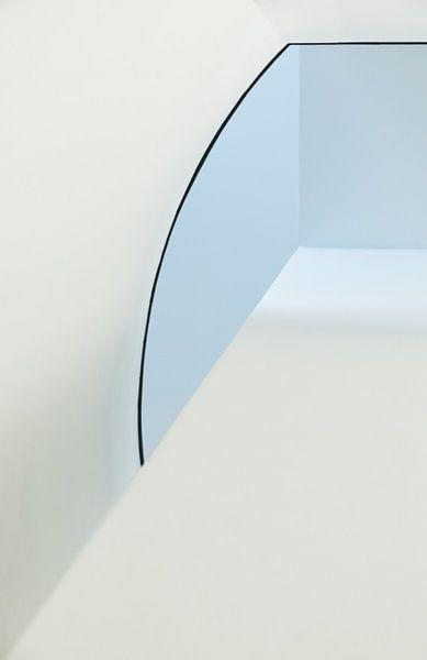 Alleen blauw en wit