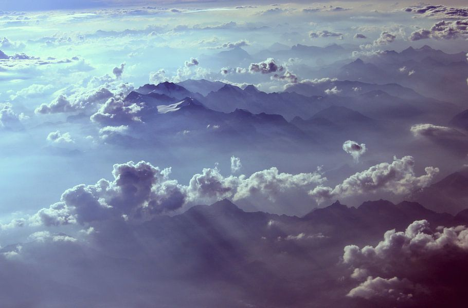 boven de wolken.