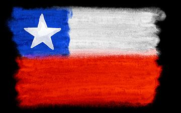 Symbolische nationale vlag van Chili van Achim Prill