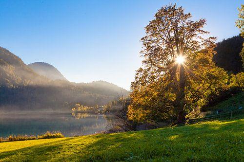 Sonnenuntergang am Hintersteiner See van