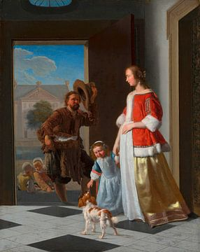 Ein Fischhändler an der Tür, Jacob Ochtervelt