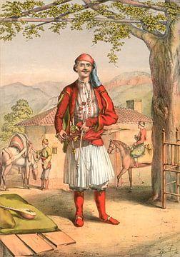 Turkije Turkey Türkiye Albanese soldaat 1862 sur