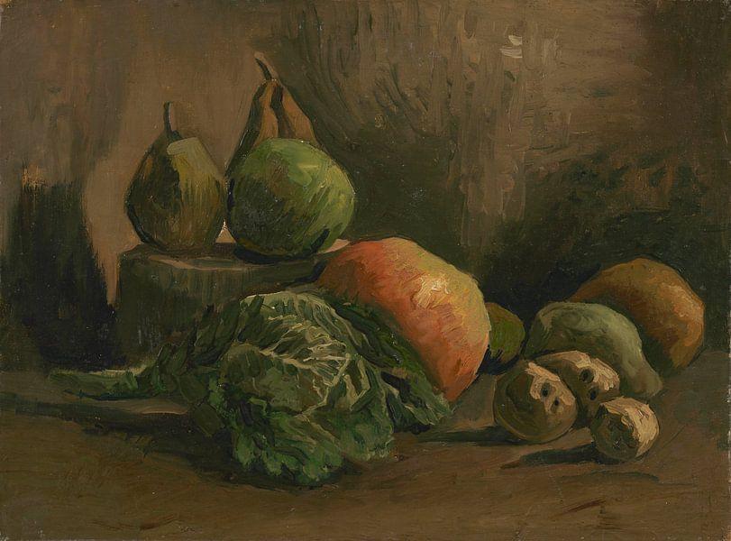 Still Life with Vegetables and Fruit, Vincent van Gogh von Meesterlijcke Meesters