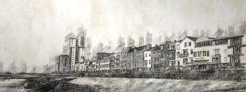 Boulevard von Flushing (Zeichnung, Bleistift)