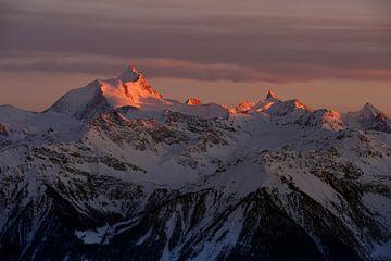 Alpenglühen... Schweizer Alpen *Wallis*  von wunderbare Erde