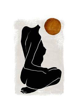 Vrouwelijk Naakt - Silhouet Lichaam Naakte Vrouw van Diana van Tankeren