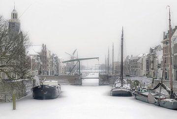 Op een winter dag in Delfshaven van Karin vd Waal
