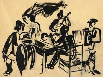 Landelijke muzikanten - 1928-1934 van Atelier Liesjes