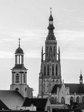 Skyline Breda - Zwart Wit van I Love Breda