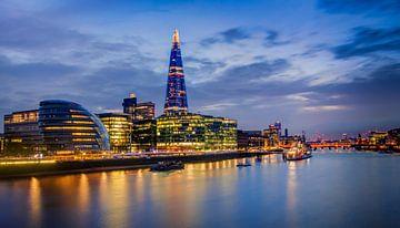 London Skyline bij Avond, Engeland van Adelheid Smitt