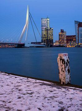 Winter's Rotterdam von Vincent van Kooten