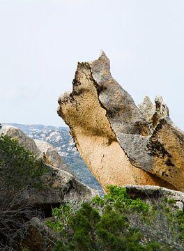 Wächter Sardinische Felsen von Erna Kampman