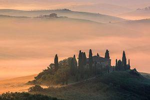 Podere Belvedere at sunrise