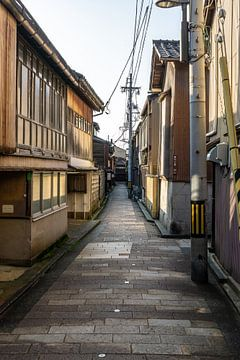 Authentiek straatje in Kanazawa van Mickéle Godderis