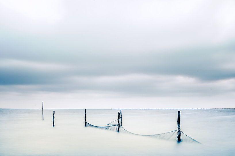 Visnetten  in het IJsselmeer van Fotografiecor .nl