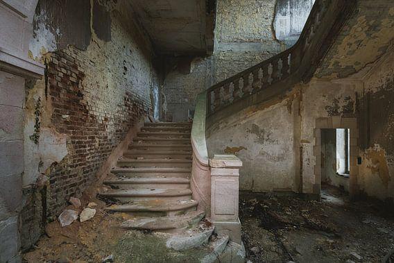 De oude kasteeltrap