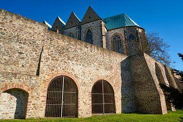Petrikirche am Ufer der Elbe in der Altstadt von Magdeburg von Heiko Kueverling