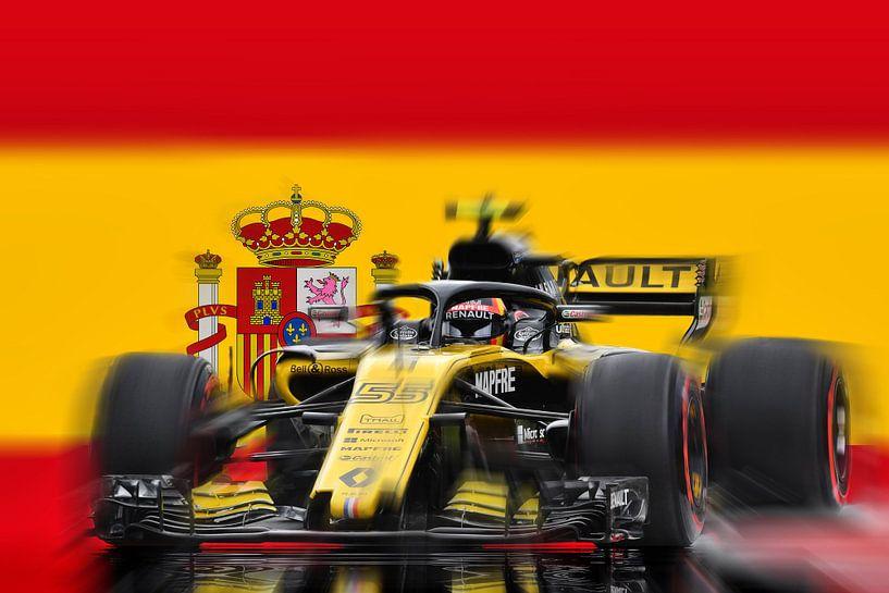 #55 Carlos Sainz junior - Spain van Jean-Louis Glineur alias DeVerviers