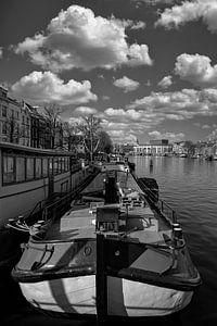 Woonboten op de Amstel van Peter Bartelings Photography