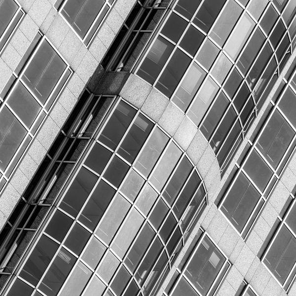 Architectuur van het Marriott Hotel in Rotterdam van Mark De Rooij