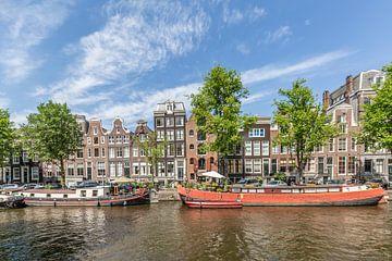 AMSTERDAM Hausboote auf der Prinsengracht sur Melanie Viola