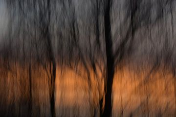 Impressionistische zonsondergang van Ivette Braem